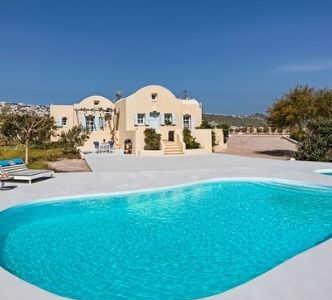 villa med pool santorini